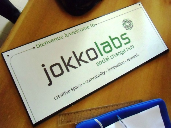 Plaque Jokkolabs (Crédits photo : Florian Ngimbis)